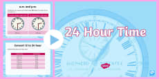 * NEW * LKS2 24 Hour Time PowerPoint