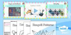 PlanIt - Art KS1 - Fabricate Lesson 6: Dyeing a Batik