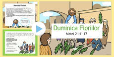Palm Sunday Story PowerPoint Romanian