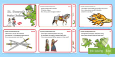 St. George's Day Maths Challenge Cards