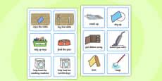 SEN Communication Cards Household Chores (Boy)