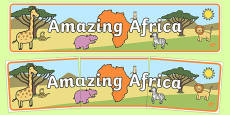 Amazing Africa Display Banner