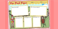 The Pied Piper Book Review Writing Frame