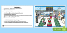 The Airport Oral Language  Activity Sheet