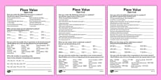 Place Value Activity Sheet Polish Translation
