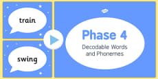 Phase 4 Decodable Words and Phonemes PowerPoint