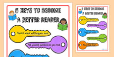 Five Keys to Become a Better Reader Poster