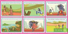 Diwali Rama and Sita Story Playdough Mats