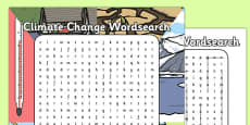 Climate Change Wordsearch