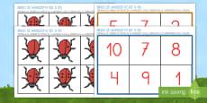Bingo: Las mariquitas del 1 al 10