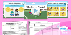 PlanIt - RE Year 1 - Friendship Lesson 1: Who Are My Friends? Lesson Pack