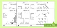 Colorear con números: Figuras 2D