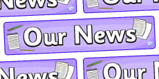 Our News Display Banner