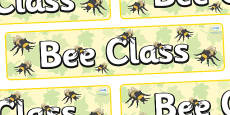 Bee Themed Classroom Display Banner