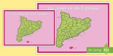Póster DIN A2: Las comarcas de Cataluña