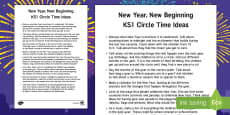 KS1 New Year Circle Time Teaching Ideas