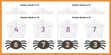 Number Bonds to 10 (on Spiders and Webs)