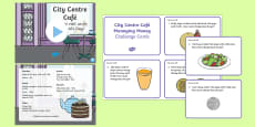 City Centre Cafe Year 1 Numeracy Resource Pack