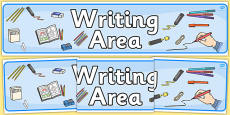 Writing Area Display Banner