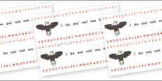 Alphabet Strips (Eagle)