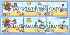 Seaside Souvenir Shop Banner