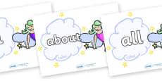 100 High Frequency Words on Fairies (Multicolour)