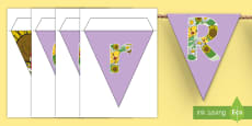 * NEW * Reading Garden Display Bunting
