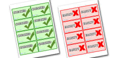 Food Production Quality Check Role Play Stickers