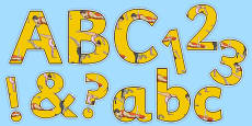 The Olympics Artistic Gymnastics Display Letters and Numbers Pack