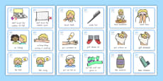 Special Needs Communication Cards Daily Routine Girl - Australia