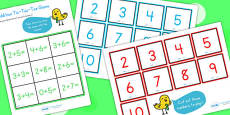 Addition Tic Tac Toe Game To Ten