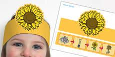 Sunflower Life Cycle Headband
