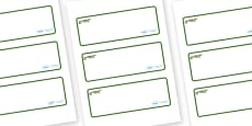 Crocodile Themed Editable Drawer-Peg-Name Labels (Blank)