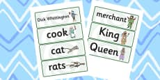 Dick Whittington Word Cards