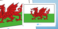 Wales Flag Display Poster