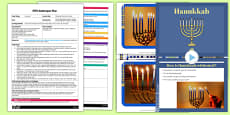 Playdough Menorah Candles EYFS Adult Input Plan and Resource Pack