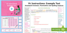 Y4 Instructions Model/Example Text