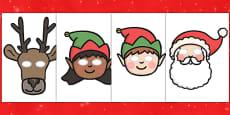 Christmas Role Play Masks