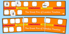 The Great Fire of London Timeline Ordering Activity