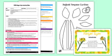EYFS Daffodil Stick Finger Gym Plan and Resource Pack