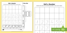 Roll a Number Activity Sheet