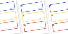 Mondrian Themed Editable Drawer-Peg-Name Labels (Blank)