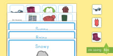 * NEW * Weather Clothes Sorting Activity