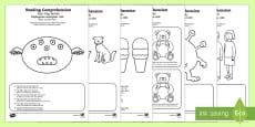 Comprehension - Four Key Words Activity Sheet Pack English/Romanian