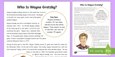 * NEW * Who is Wayne Gretzky? Fact File