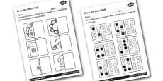 Draw The Other Half Symmetry Activity Sheet