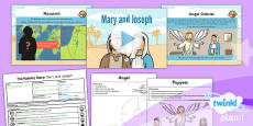 PlanIt - RE Year 3 - The Nativity Story Lesson 1: Mary and Joseph Lesson Pack