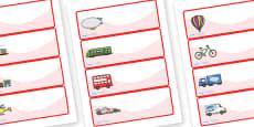 Editable Drawer - Peg - Name Labels (Transport)