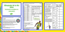 The Olympics Rio 2016 UKS2 Maths Challenge Cards Romanian