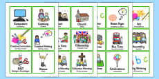 KS2 Visual Timetable Portuguese Translation